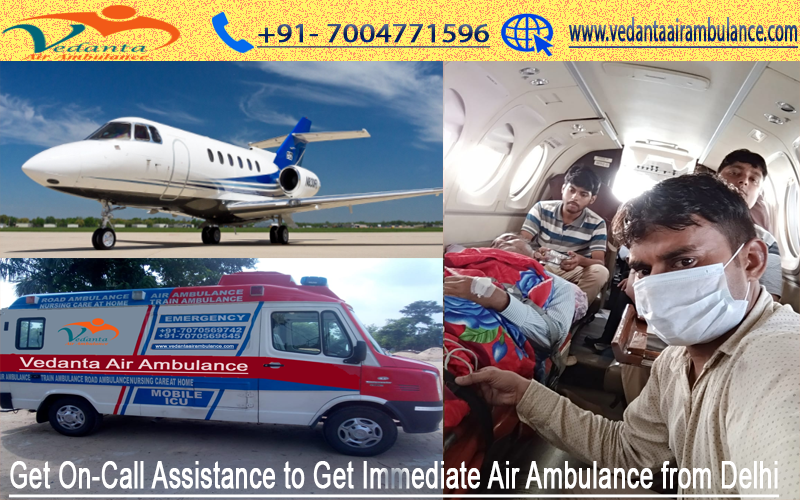 Hire Low Cost Advanced Air Ambulance with world class Life support systems onboard 247