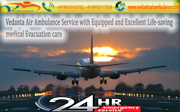 Equipped and Advanced Life Support System by Vedanta Air Ambulance Service in Allahabad