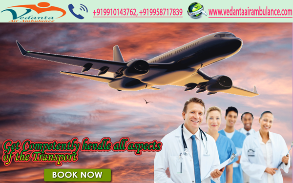Vedanta Air Ambulance Services in Bhopal and Bokaro