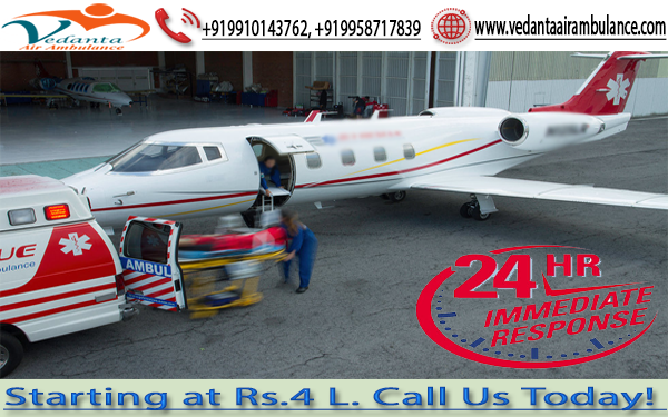 Vedanta Air Ambulance Ranchi to New Delhi