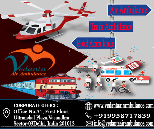 Trained Supported Staff and Reasonable Air Evacuation Service by Vedanta Air Ambulance Service in Indore